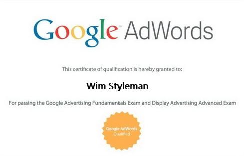 Google adwords certificaat